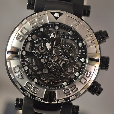 New Invicta 20635 Subaqua Cruiseline Swiss Made Chronograph Skeleton Dial Watch