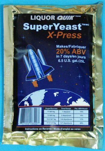6 Packages of liquor quick Super Yeast X-Press turbo 20/%