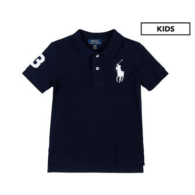 Polo Ralph Lauren Kids' Big Pony Mesh Polo - French Navy