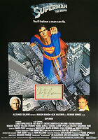 CHRISTOPHER REEVE Signed 23x17 Mounted Display SUPERMAN COA