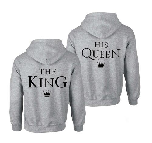 "Best Friends BFF coppiette COPPIA Pullover Hoodie nel set /""The King his QUEEN CORONA/"""