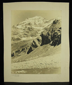 Photography 1940 Les Alpes The Mount Pourri Chlorobromure Henry Of Wolf Brussels