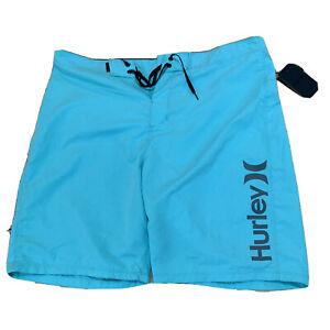 Hurley-Mens-Boardshorts-Swimsuit-Size-36-Blue-Trunks-New-NWT-I101