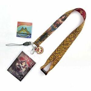 Batman Wonder Woman  Neck Strap Lanyard ID Badge Charms KeyChain Gift Card