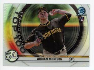 2020 Bowman Chrome BTP-54 ADRIAN MOREJON San Diego Padres TOP 100 ROOKIE INSERT