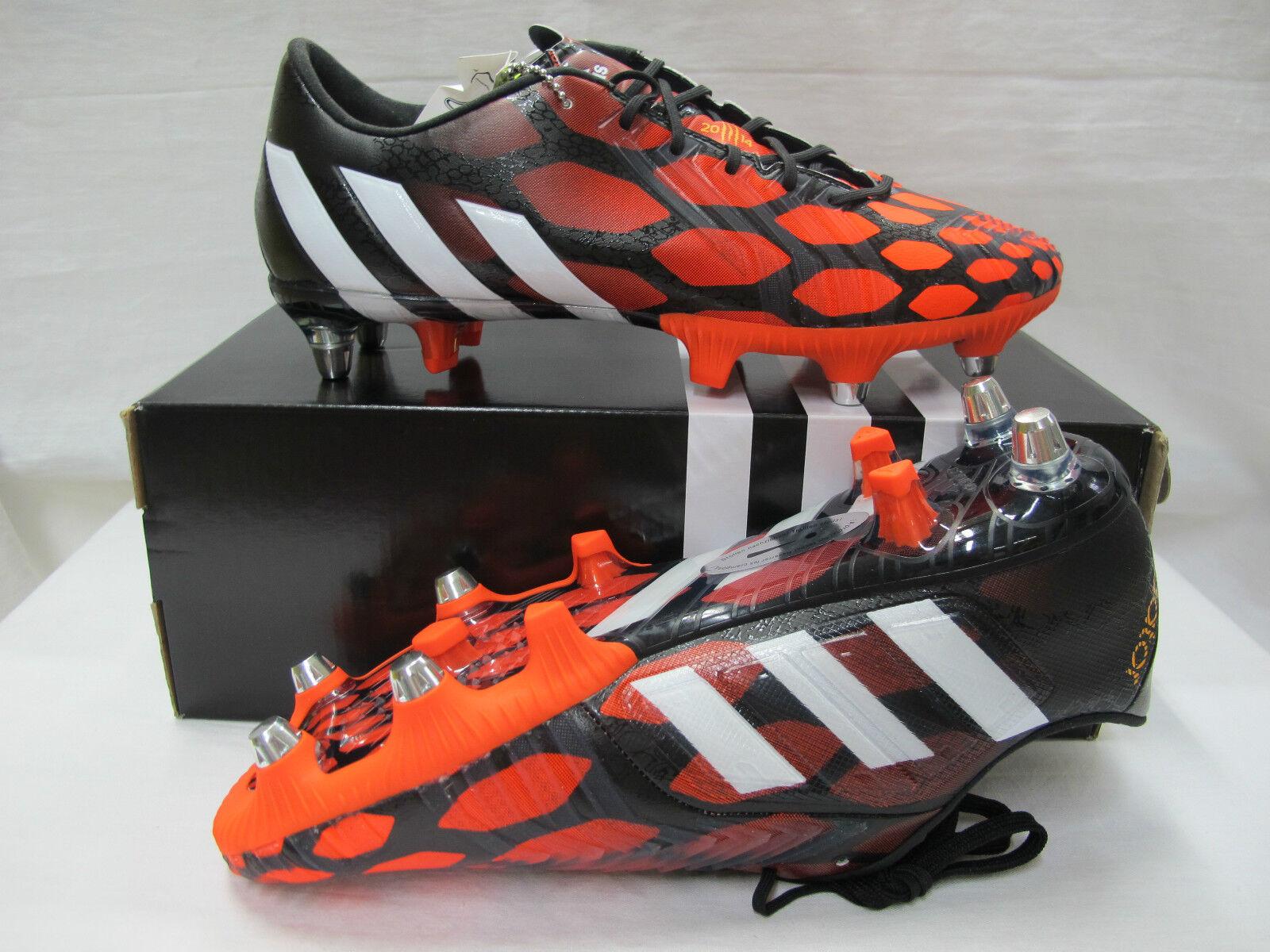 ADIDAS scarpe calcio PREDATOR INSTINCT INSTINCT INSTINCT SG M20157 NERO ROS n.40 2 3 luglio 2014 1eee52