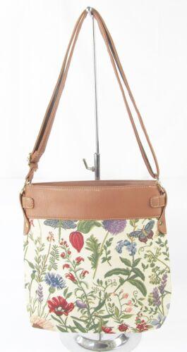 Morning Garden Flower Design Tapestry Slim Crossbody Bag  Signare