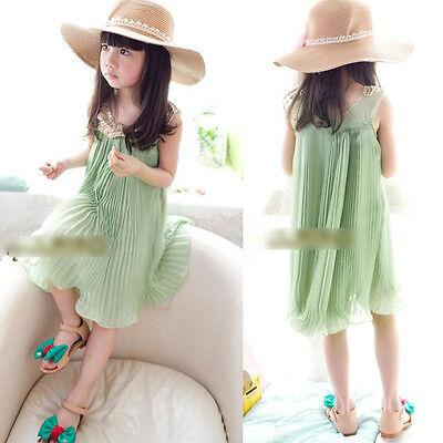 Wholesale Baby Girls Princess Chiffon TuTu Skirt Party Dress Birthday Sundress
