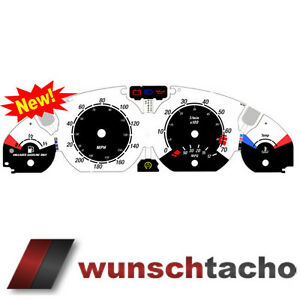 Tachodisc-E46-MPH-Miles-US-for-Tacho-BMW-E46-Petrol-Benziner-Sport-200-MPH