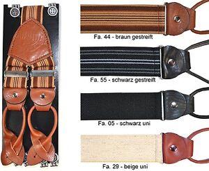 LLOYD-Hosentraeger-4-Farben-Y-Form-Hollaender-120-cm-Leder-Suspenders-Braces-6512