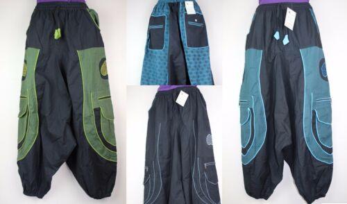 Hippy Aladdin Trousers Combat Festival Alibaba Harem Baggy Boho Pant Trouser AB6