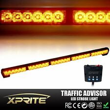 "31"" 32"" 30 LED Amber Traffic Advisor Emergency Warning Flash Strobe Light Bar"