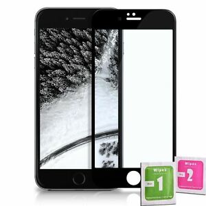 Pellicola Vetro Temperato Completa 4d Per Iphone 6 6s Nero Ebay