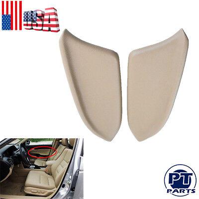 Fit for Honda Accord 2008-2012 Sedan LR Door Panel Armrest Beige PU Leather US