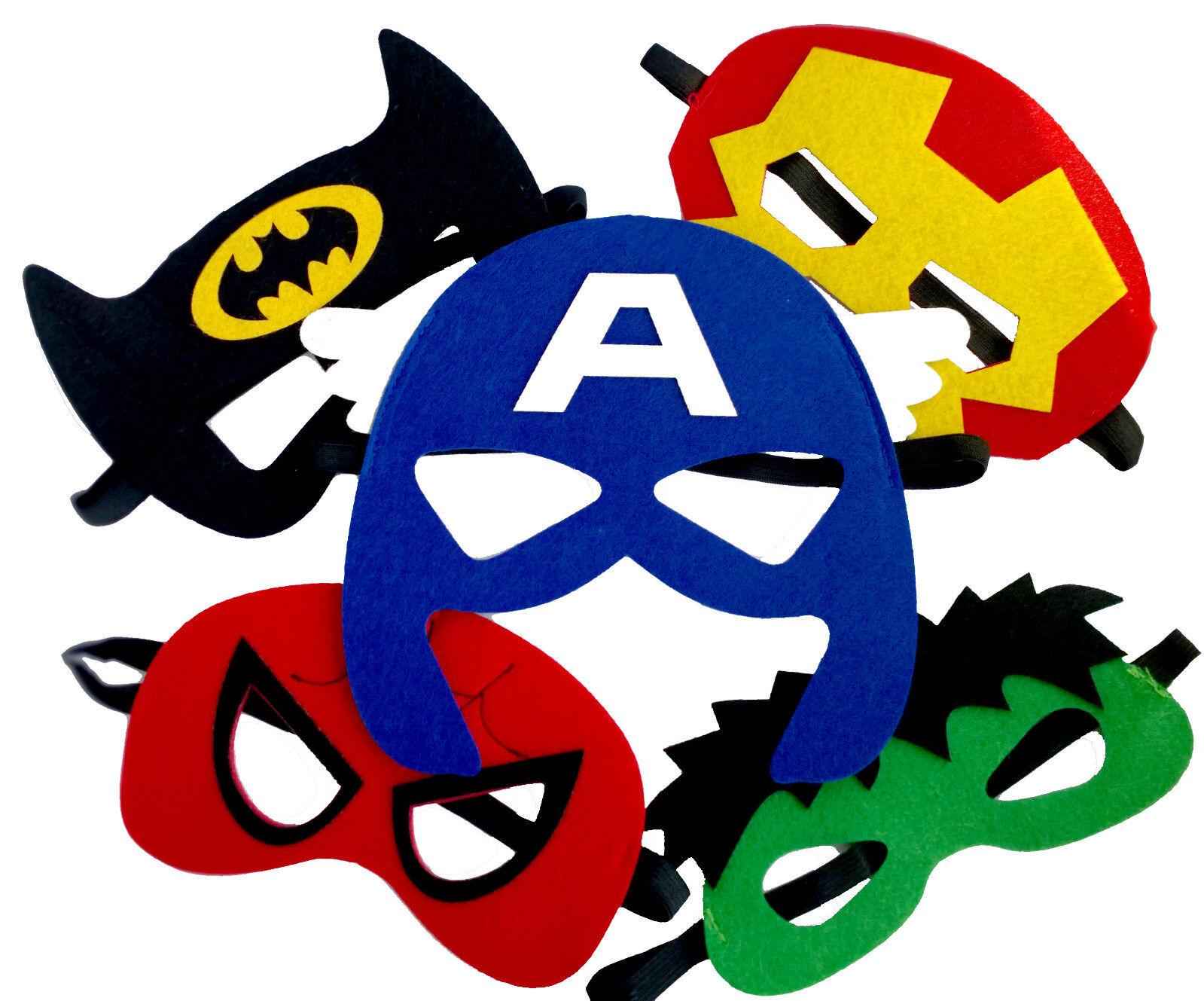 32pcs niños superheroe máscaras media máscaras niños fiesta disfraces traje Prop 2