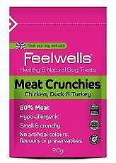 Feelwell's Meat Crunchies 90g (paquet de 12) 5060124190679