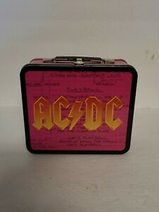 AC/DC Rock N Roll Band Metal Lunch Box Pink With Black Leidseplein 2017