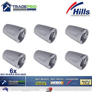 Hills-Genuine-PRO-Clothes-Line-Tie-Off-Caps-6pc-Folding-Frame-Clothesline-6-pack