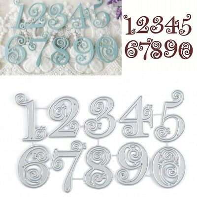 Circle Lace Numbers Metal Cutting Dies Stencil Scrapbooking Card Embossing Craft