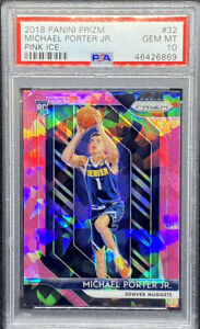 Michael-Porter-Jr-2018-2019-Panini-Prizm-Pink-Ice-Rookie-RC-32-GEM-MINT-PSA-10