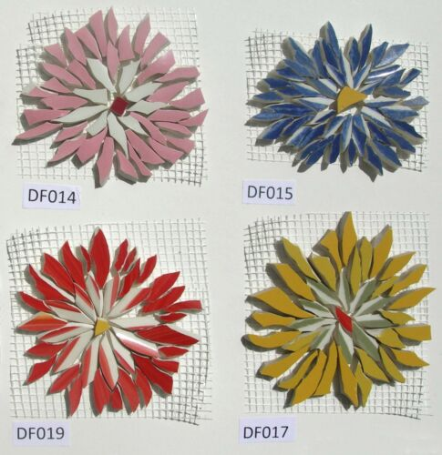 """COLOR Variations 1.5/"""" /"""" 3/"""" Blue Broken China Mosaic Tiles Daisy SIZE Red"""