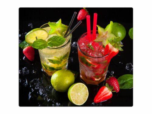 Herdabdeckplatte aus Glas Schneidebrett Spritzschutz HA64092859 Cocktails