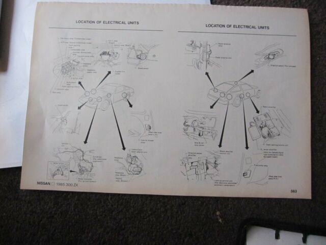 Chiltons Wiring Diagrams For 1985 Nissan 300zx
