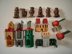 METAL FIGURINES SET - CASTLE & ROYAL SUITE COPPER - KINDER SURPRISE MINIATURES