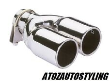 Twin Exhaust Tip Tail Pipe Trim {Stainless Steel}{NEW}{Ltd Stock}