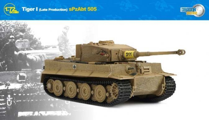 1 72 Dragon Armor Cyber-Hobby 60121 Tiger I Late Production,s.Pz.Abt.505