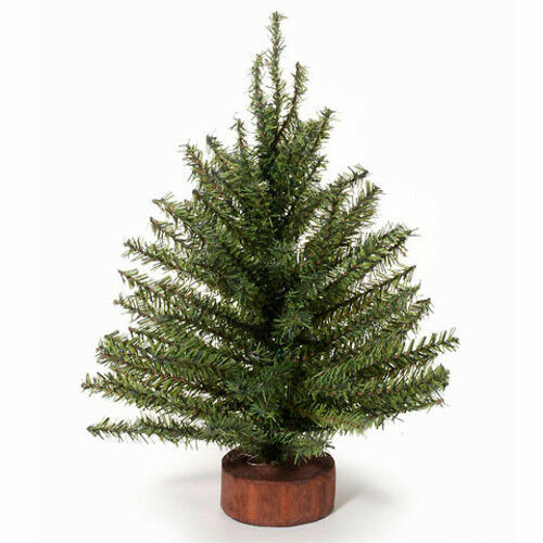 12 inch green artificial pine christmas tree with wood base miniature craft ebay - 12 Inch Christmas Tree