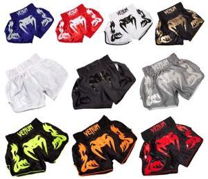 Venum Bangkok Inferno Muay Thai Kickboxing Mma Pantalones Pantalones Cortos De Artes Marciales Ebay