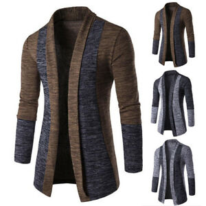 Mens-Slim-Fit-Knitted-Cardigan-Sweater-Long-Sleeve-Casual-Knitwear-Jacket-Coat