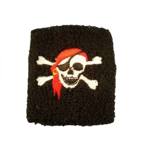 5 Piraten Schweißband für Kinder Geschenkidee Kindergeburtstag Mitgebsel Tombala