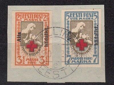 Briefstück, 26022 1923 Wohlfahrt Mit Aufdruck 46-47b Gestempelt Estland