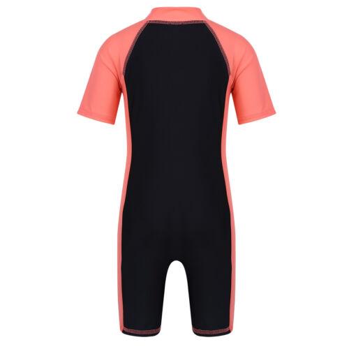 One-Piece Girls Boys Swimwear Swimsuit Kid Sun Protective Beachwear Bathing Suit