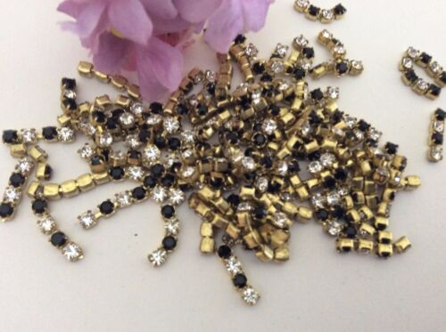 30 Swarovski Vintage Rhinestone 4 Cut Cupchain 2.4mm CRAFT Colour Option
