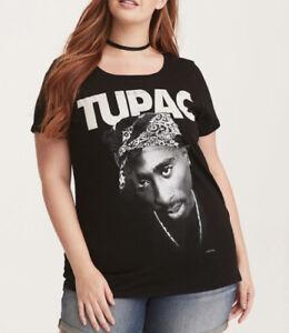 2e8a4873512a9 Torrid 2PAC TUPAC Women s Girls Plus Size T-Shirt NEW 100% Authentic ...