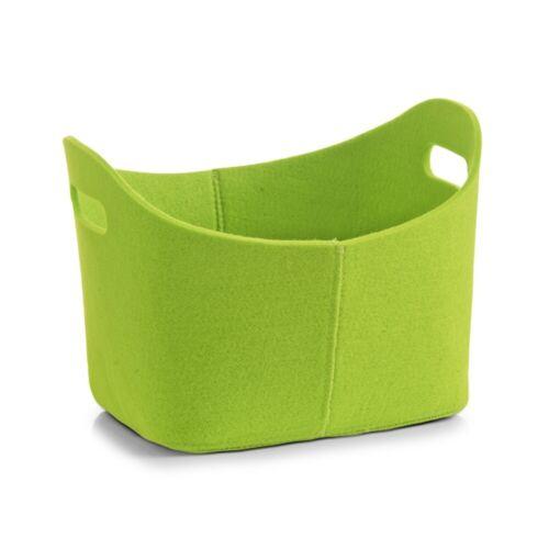 Zeller Korb oval Filz grün