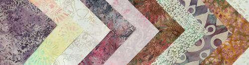 "10 strips 2.5/"" x 44/"" Morning Mist Batiks Fabric Jelly Roll Strips"