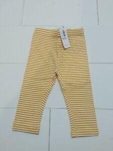 Old-Navy-Toddler-Girls-Leggings-NWT-size-12m-18m-Yellow-and-White-Stripe