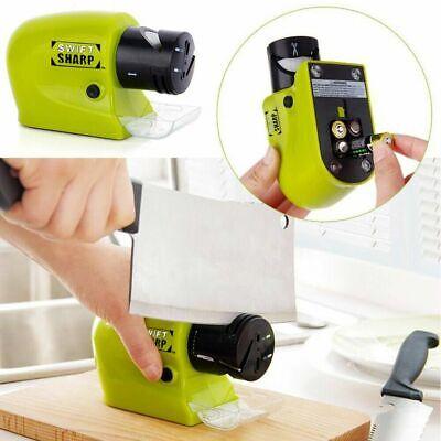 Elektrische Messerschärfer Küchengrindstone Swifty Sharp Cutter Werkzeuge Grün