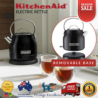 Amazing Kitchenaid 1 25L Electric Kettle Cordless Stainless Steel Bell Shape Body Black Ebay Download Free Architecture Designs Grimeyleaguecom