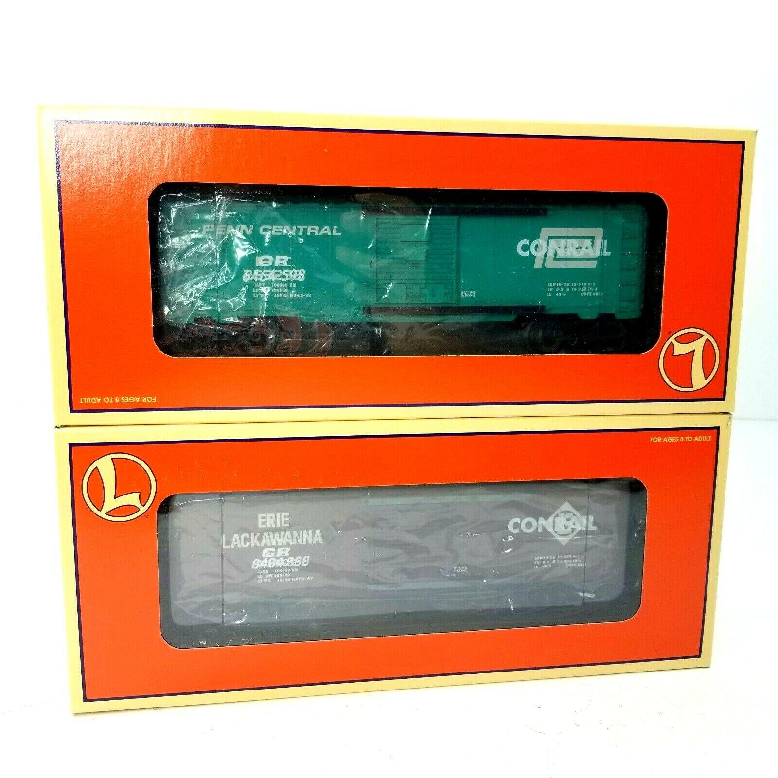 Lionel 6464 contrassegnato autoro merci Set 621756 Conrail 'PENN CENTRAL Treno 1998 NUOVO IN SCATOLA