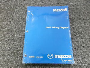 2009 mazda 5 mazda5 factory original electrical wiring diagram rh ebay com mazda 5 wiring diagram 2012 mazda 5 wiring diagram pdf