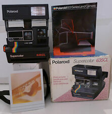 Polaroid 600 Instant Camera SuperColor 635 CL Edition +Photo Box & Manual TESTED