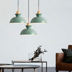 Details About Kitchen Pendant Lighting Wood Green Lamp Bar Light Modern Ceiling