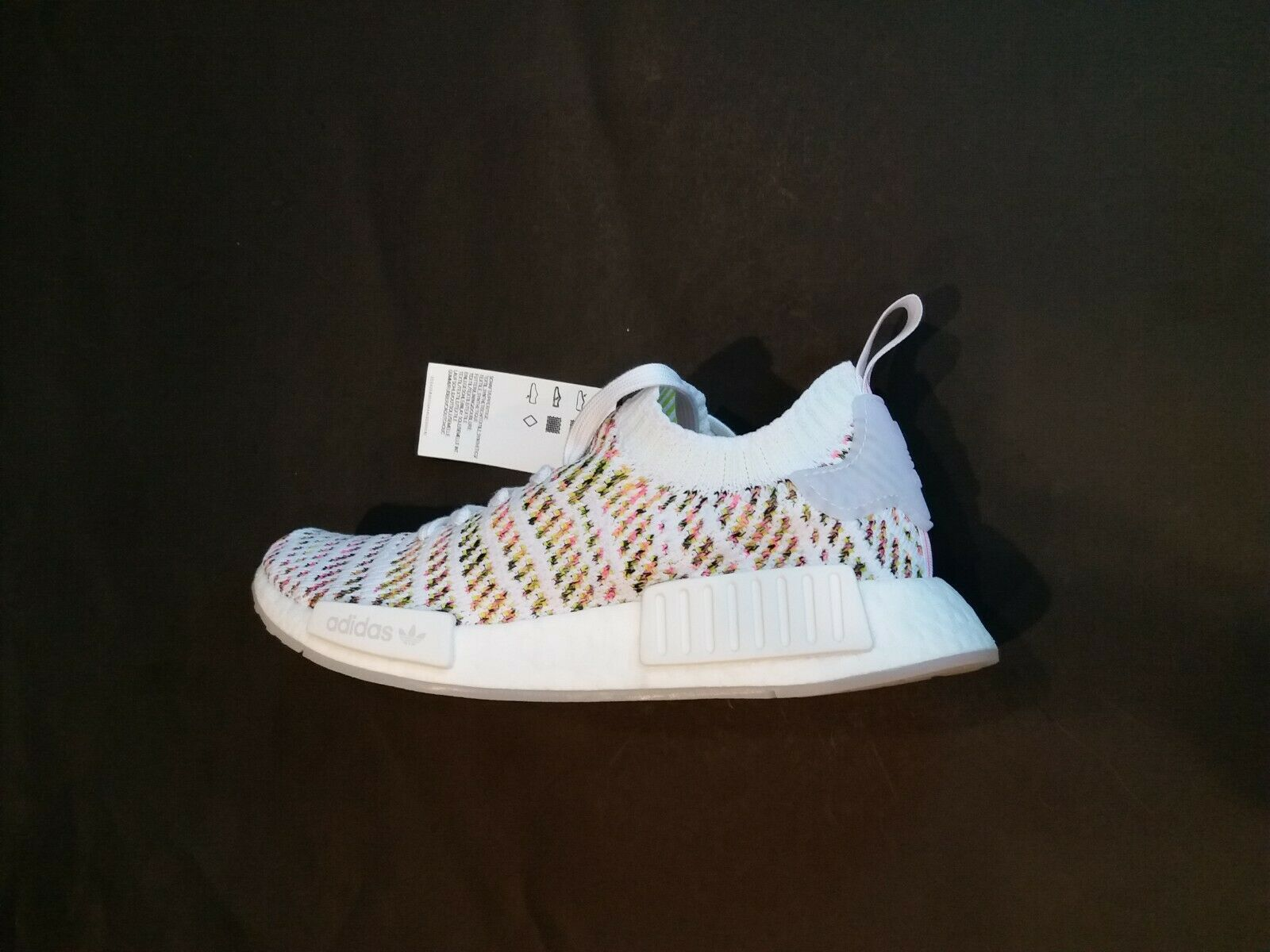 Adidas Boost NMD R1 Primeknit femme 7 Cloud blanc Solar jaune rose B43838
