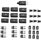 10PCS Micro USB Type B Male Plug Connector Kit with Plastic Cover for DIY L6X to