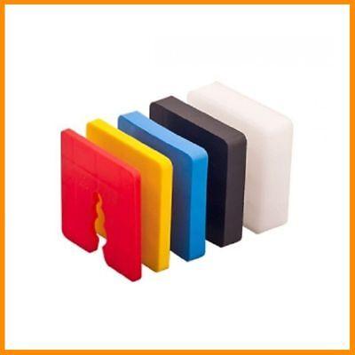Heimwerker 50x 2-15mm Distanzklötze Abstandshalter Ausgleichsklötze Kunststoff Sockel Direktverkaufspreis